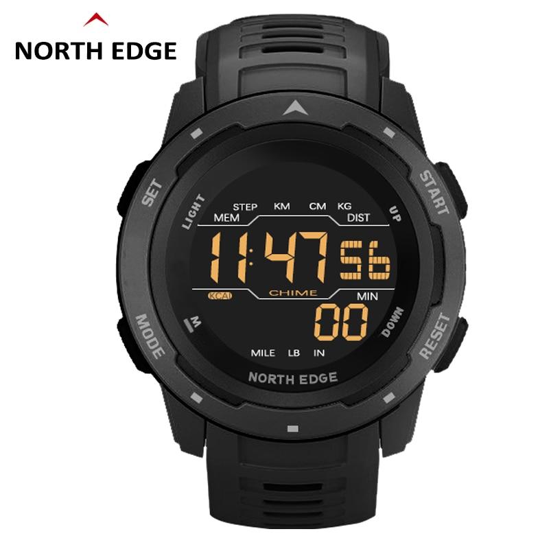 Sport Watch North Edge Auto Functions Military Wristwatches 50M Waterproof Swimming Clock Shockproof Watches Men Digital Reloj