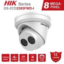 Hikvision 8MP IP Kamera POE Outdoor Video Überwachung 4K Kameras DS-2CD2385FWD-I mit 30m IR Gebaut-in SD karte Slot & H.265