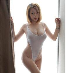 Biquíni 2020 sexy cor sólida transparente corda alta forquilha clube noturno spa banho feminino maiô biquini biquini biquini