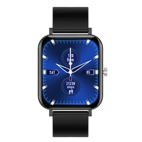 new cf82 side button knob design multi sports blood pressure sleep monitoring information reminder smart watch for android ios
