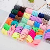 50 100pcs women girl candy colors scrunchie nylon elastic hairbands ponytail holder rubber bands headband hair