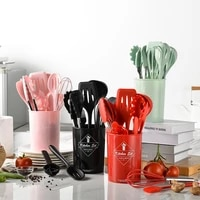 new silicone kitchenware 10pc set non stick silicone shovel spoon kitchen gadget sets cooking utensils goods for the kitchen 65z