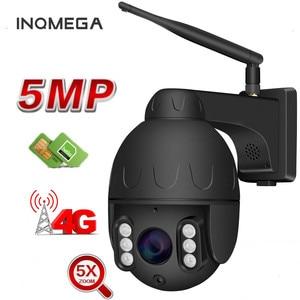 Inqmega Wifi PTZ IP Camera 1080P 5MP Super HD 5X Zoom Two Way Audio Wireless Outdoor 60m IR Video Home Security Camera P2P