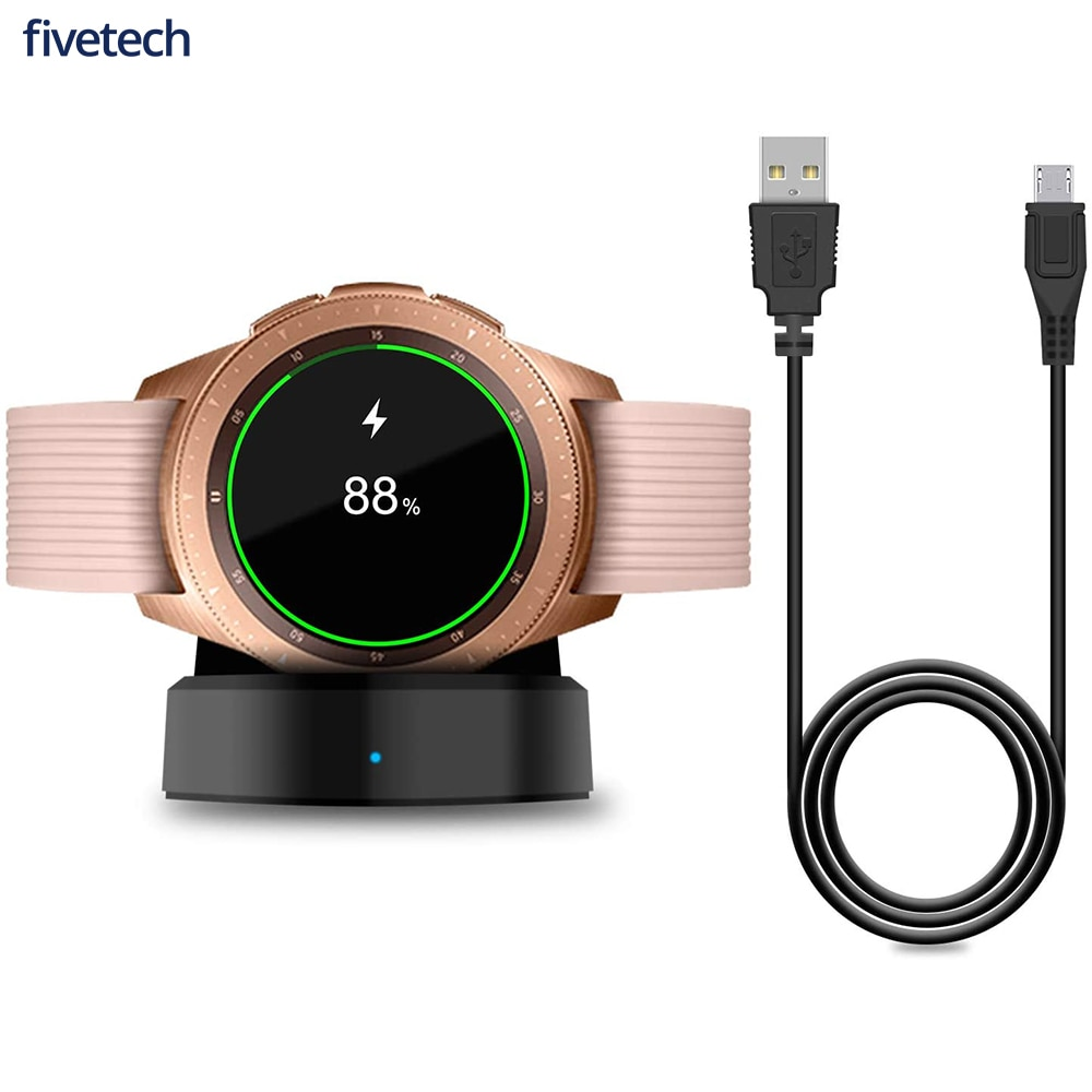 Fivetech Wireless Fast Charger Base For Samsung Galaxy watch 42mm 46mm Galaxy Watch 3/ Active 2 Watc