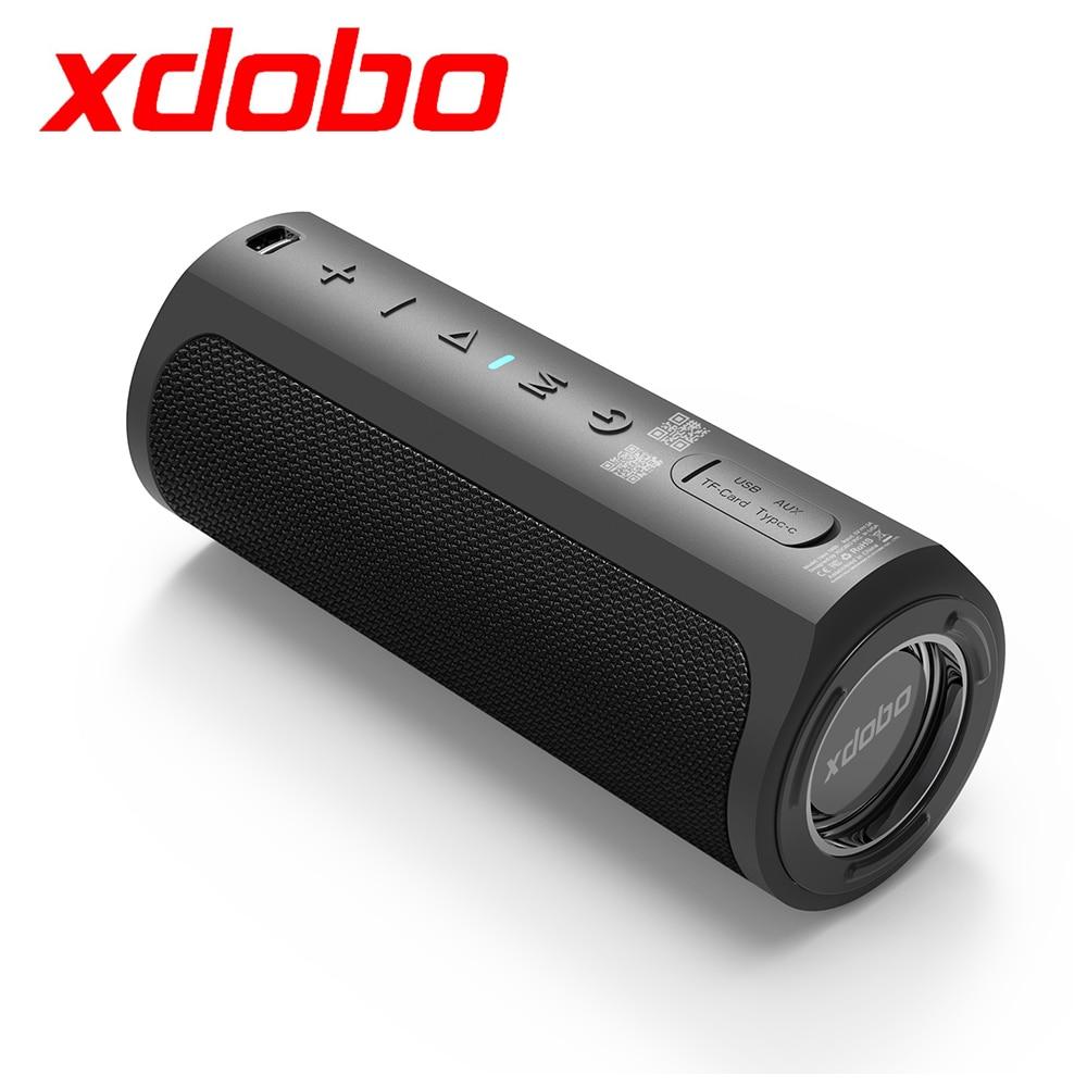 Xdobo 50 واط الموسيقى العمود المحمولة الذكية مكبر الصوت سمّاعات بلوتوث مع أليس ، عميق باس مضخم الصوت اللاسلكي نظام الصوت