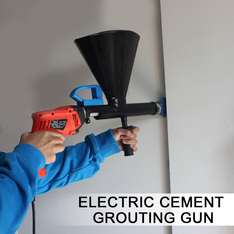 Electric Automatic Cement Mortar Filling Gun Grouting Machine Security Doors And Windows Cement Filling Gun