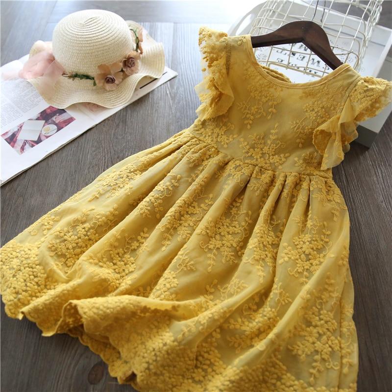 Summer Lace Children Clothing Princess Kids Dresses For Girls Causal Wear Unicorn Dress 3 8 Years Girls Dress Vestido Robe Fille