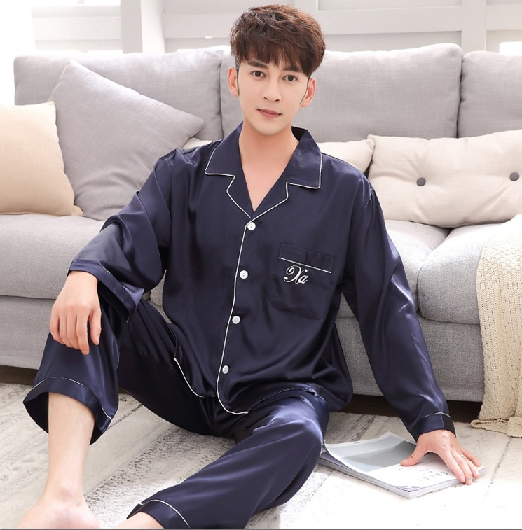 Пижама костюм атлас шелк пижамы комплекты пара одежда для сна семья пижама любовник ночь костюм мужчины 26% женщины повседневный дом одежда