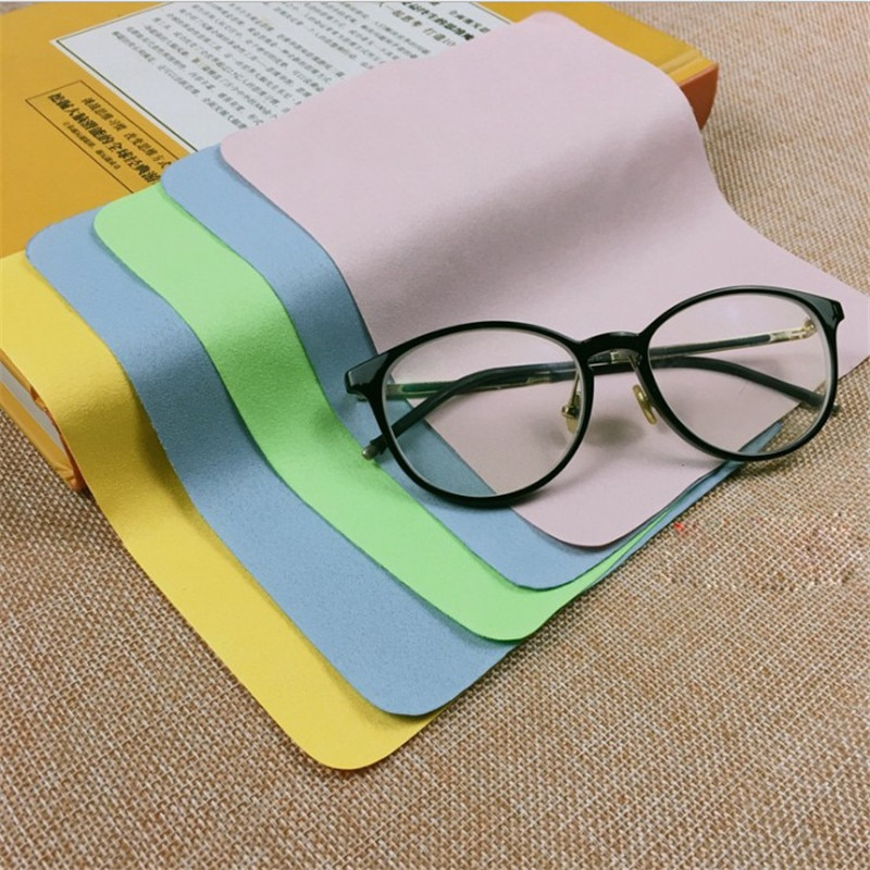 5pcs Cleaner Clean Glasses Lens Cloth Wipes For Sunglasses Microfiber Eyeglass Cleaning Cloth For Ca