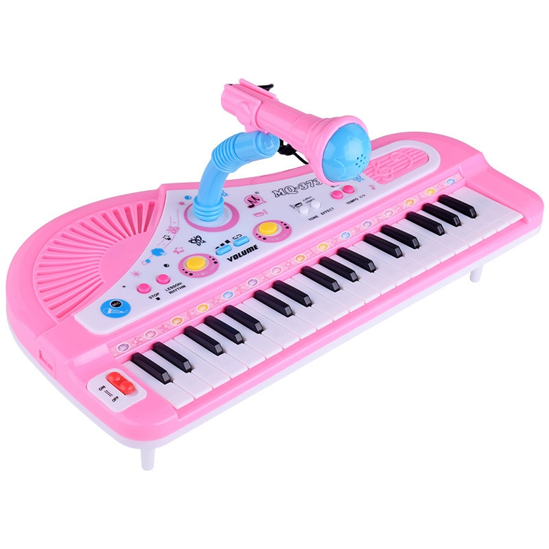 Baby kids Musical Piano Early Educational toy Infant Toddler Developmental Fingers Kids Music 37 Keys Gift Plastic Cute Toy