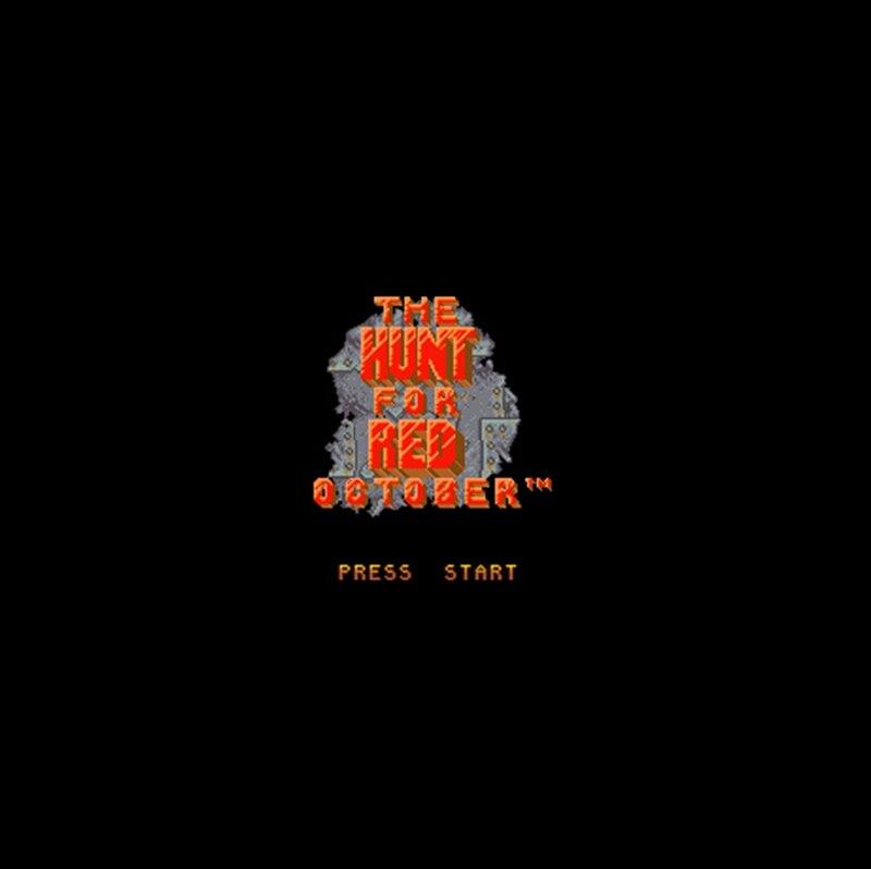 Hunt for Red October, versión de EE. UU., 16 bits, gran tarjeta...