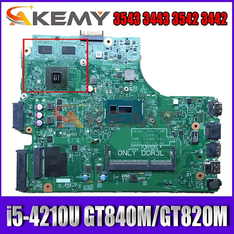 العلامة التجارية جديد I5-4210U GT840M/GT820M لديل انسبايرون 3543 3443 3542 3442 اللوحة 13269-1 FX3MC CN-066KRV 66KRV اللوحة
