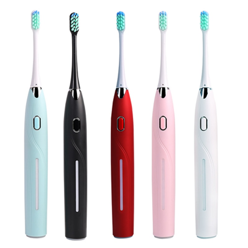 Electric Toothbrush Rechargeable Waterproof Teeth Brush Sonic Toothbrush Smart Timer Adult Brush USB Toothbrushes enlarge