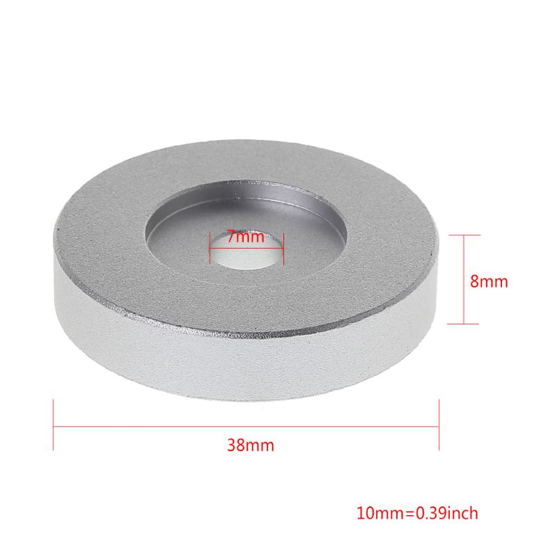 Record Turntable Adapter 45 RPM Aluminum Silver for 7