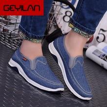 2019 autumn Canvas Men Shoes Denim Fashion Men Casual Shoes  Youth Loafers Comfort Moccasins Male Wa