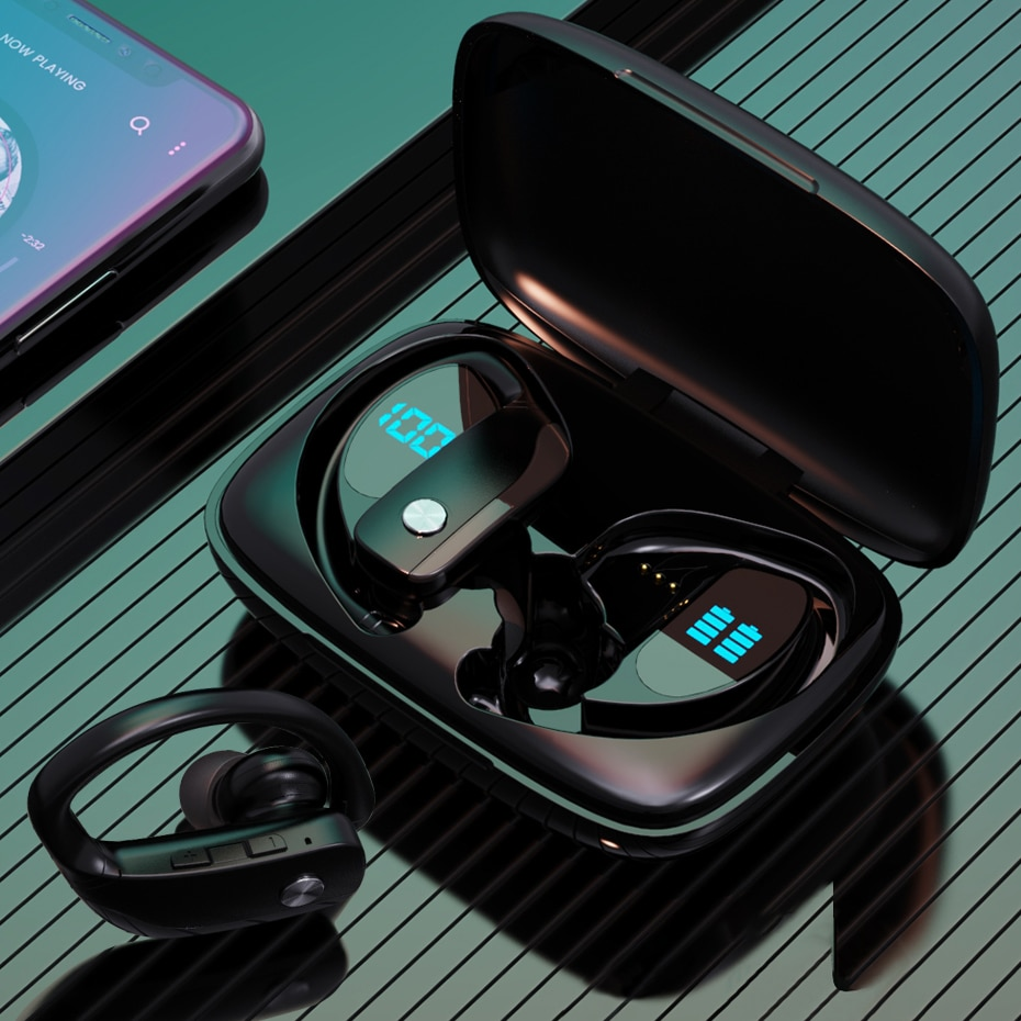 Bluetooth V5.1 Earphones Wireless Headphones With Microphone Sports Waterproof Headsets Charging Box For Android IOS LED Display