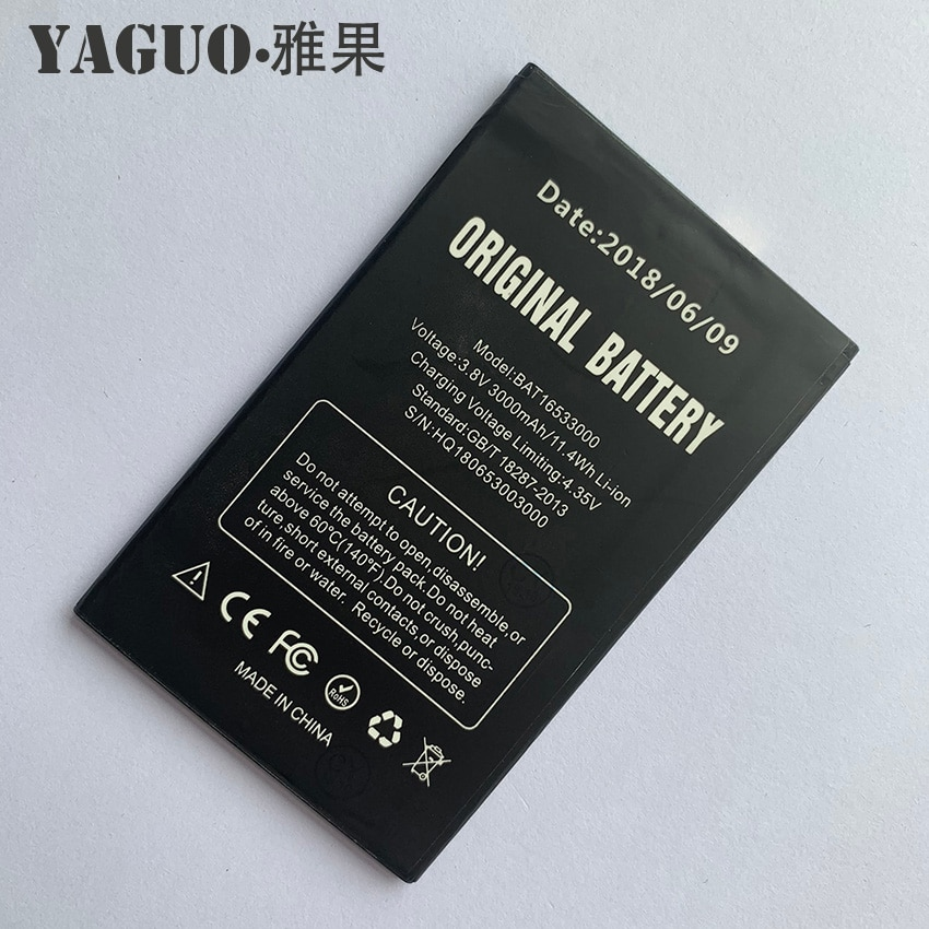 Для Doogee X9 & X9 Pro X9Pro BAT16533000 мобильный телефон 100% оригинальный аккумулятор замена 3000 мАч батарея