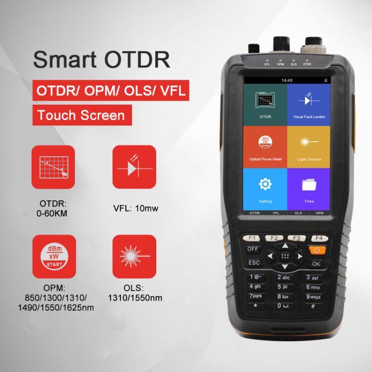 0-60km TM290 Smart Handy OTDR 1310/1550nm Optical Power Meter : -70~+10dbm or -50~+26dbm portable fiber fault locator