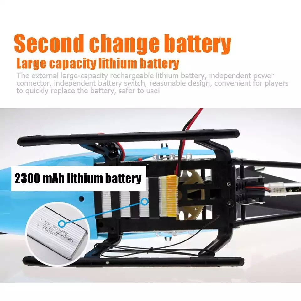 80cm Super Large 2.4G Remote Control Aircraft anti-Fall Rc Helicopter Drone Model Outdoor alloy RC Aircraft Adult toys kids toys enlarge