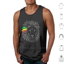 Lion Tuff Tank Top Cotton Vest Sleeveless Men Women Lion Order Lion Order Rasta Rasta Lion Rasta Life Rasta Livity Rastafari