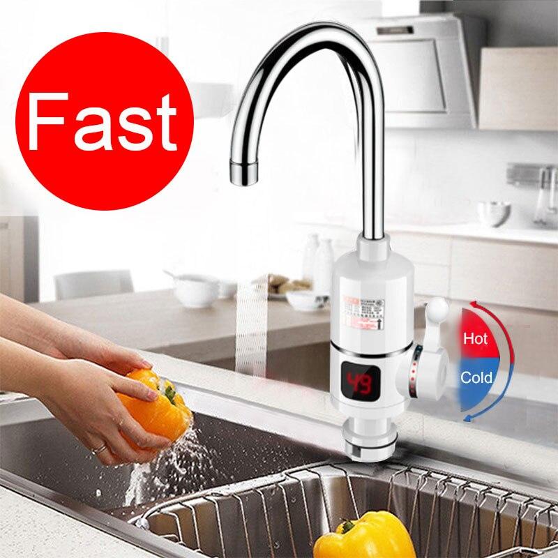 جديد الكهربائية المطبخ سخان مياه الحنفية لحظة صنبور الماء الساخن سخان الباردة التدفئة صنبور Tankless لحظية سخان مياه