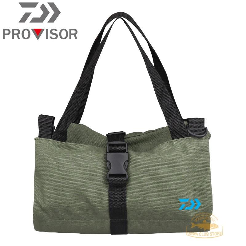 DAIWA Tool Fishing Bag Outdoor Men's Canvas Tool Hanging Bag Car Storage Bag Hardware Car Tool Fishing Bag