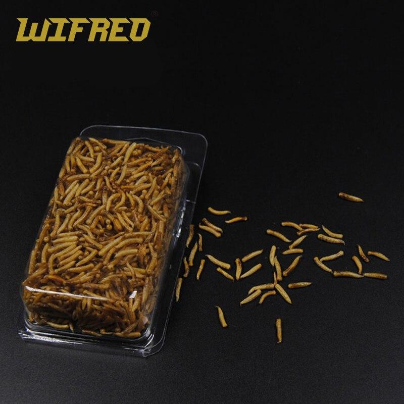 Wifreo, 1 paquete, limpia gusanos secos para pesca/cebo de pescado nutritivo de alta proteína/comida, cebos de pesca de carpa de invierno