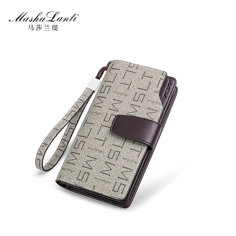 Men Long Wallet Clutch Bag Credit Card Holder Purses Carteira Masculina Carteras Billetera Hombre PV