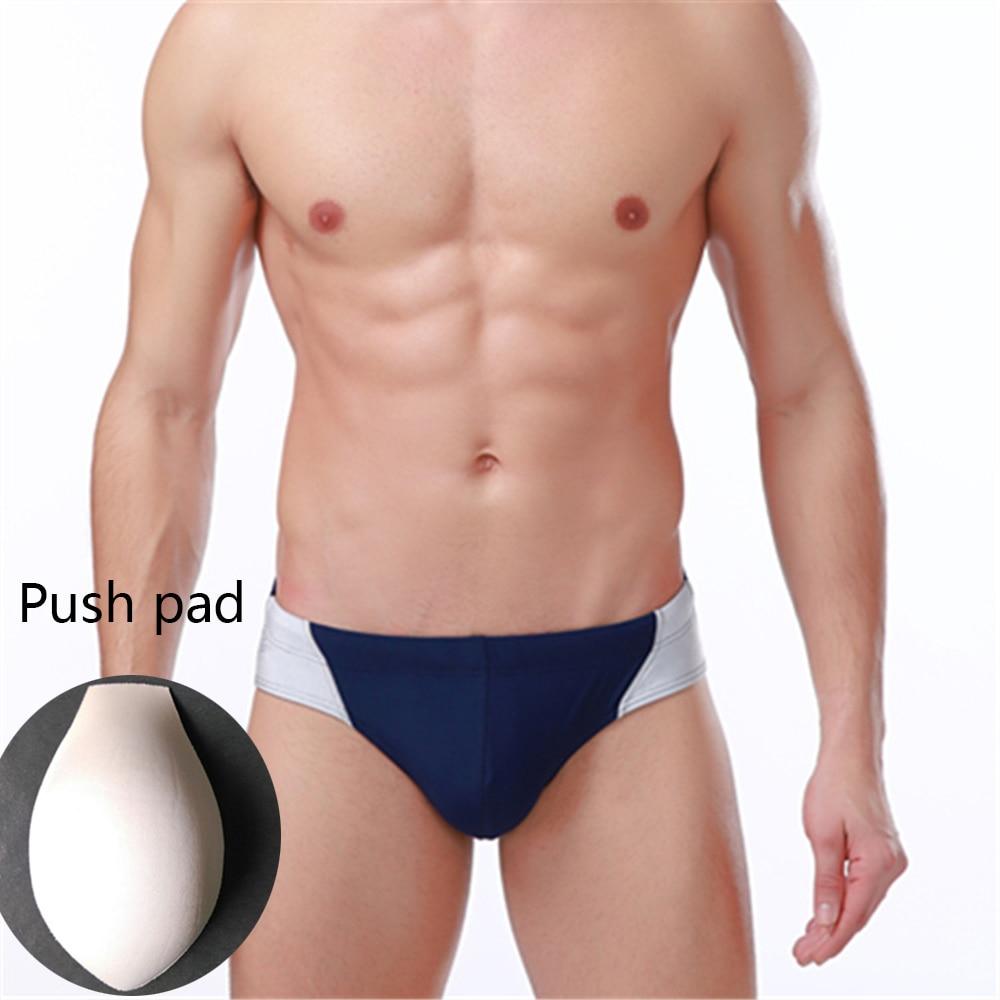 Men's Swimming Trunks Swimming Shorts With Push Pad And Rope Swimming Beach Spa Vacation Swimming Trunks 2021 Men's Swimwear