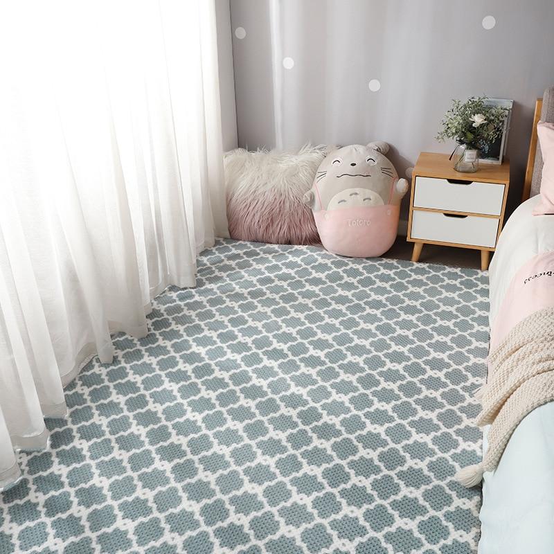 الأناناس شبكة المرجان المخملية السجاد لغرفة المعيشة الحديثة ديكور المنزل السجاد نوم الحصير غرفة الأطفال لطيف فتاة السرير السجاد