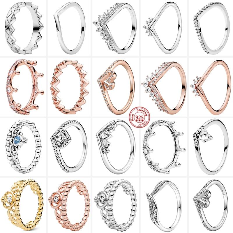 Лидер-продаж-кольца-пантаро-из-стерлингового-серебра-925-пробы-с-короной-принцессы-из-бисера-сверкающие-прозрачные-циркониевые-кольца-жен