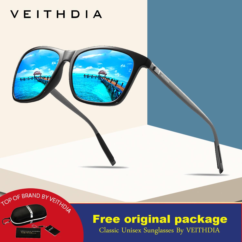 VEITHDIA Brand 2019 Unisex Retro Aluminum+TR90 Sunglasses Polarized Lens Vintage Eyewear Accessories Sun Glasses For Men/Women 2