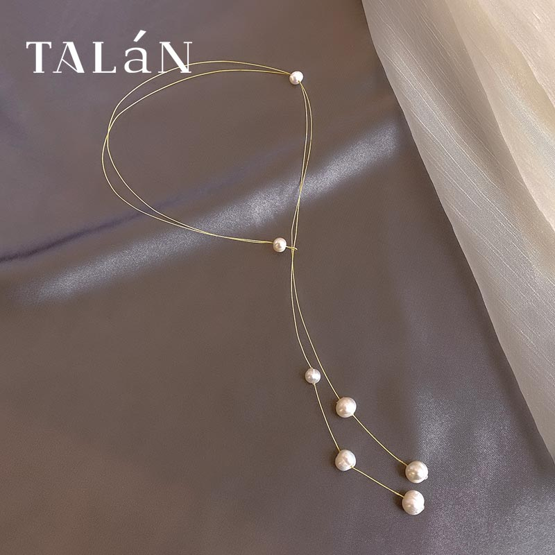 Taran Elegant Anmutig Perle Halskette Neue Internet Promi Mode Kurze Halskette Licht Luxus Minderheit Design Hohe Gefühl