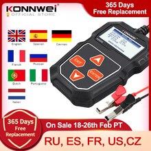 KONNWEI KW208 тестер автомобильного аккумулятора 12 В 100 до 2000CCA Cranking зарядка Circut тестер анализатор батареи 12 вольт инструменты для аккумулятора
