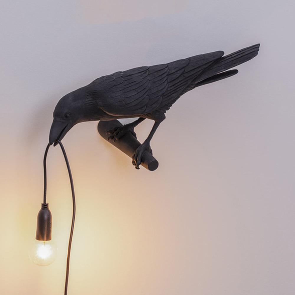 Seletti-مصباح حائط من الراتينج على شكل طائر ، تصميم إيطالي جديد ، مصباح أثاث حديث ، مصباح حائط لغرفة النوم ، مصباح بجانب السرير