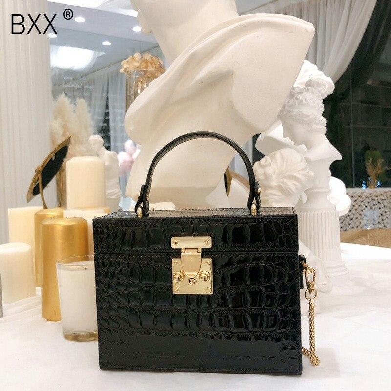 [BXX] Crocodile Pattern PU Leather Shoulder Bags For Women 2021 New Luxury Brand Designer High Quality Handbags Lady Totes HI838