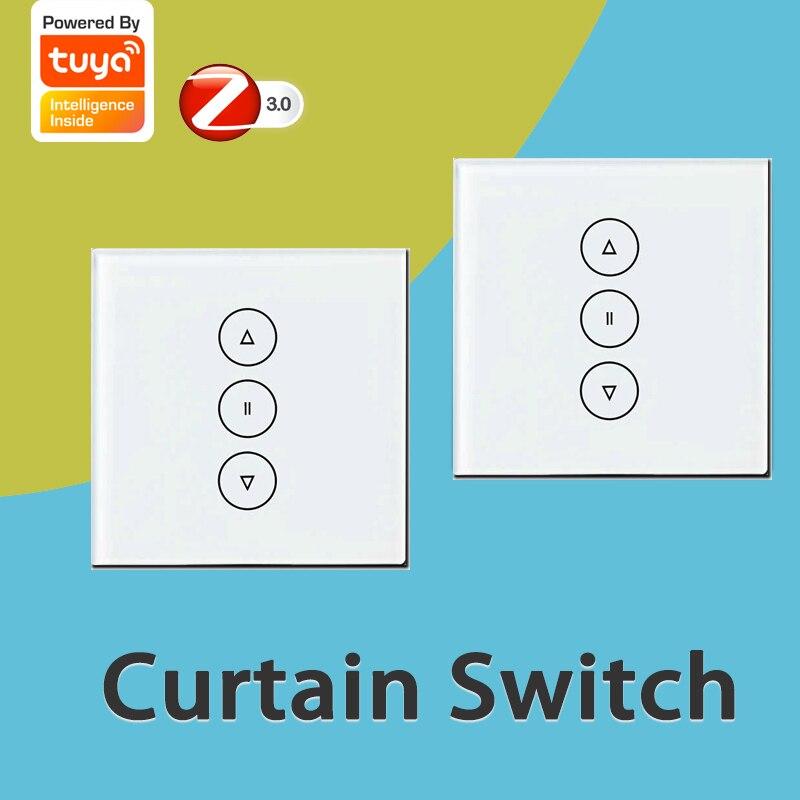 Tuya WiFi الذكية اللمس التبديل الكهربائية الستار اللاسلكية التحكم عن بعد يعمل مع اليكسا صدى/جوجل مساعد