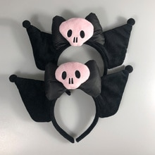 Anime Melody Headband Cute Cosplay Soft Pink Skull Headwear Hair Accessories For Girl Fans Gift