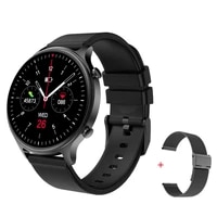 ip68 waterproof smart watch dk18 1 28 inch full touch screen remote music heart rate monitor call reminder smartwatch for men