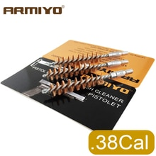 Armiyo 9mm. 380. 38. 357 Cal chasse pistolet nettoyant Bronze pistolet alésage canon tir nettoyage brosse Kit filetage taille 8-32