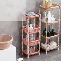 plastic multipurpose shelf removeable rack bathroom kitchen storage easy asembly storage rack shelf organizador ba%c3%b1o