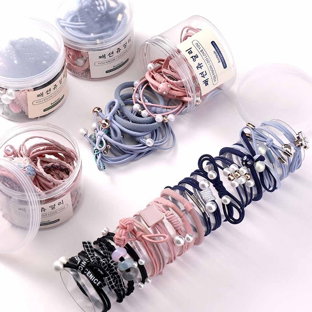 Accesorios de moda para el cabello, banda de goma para el pelo, tocado, corbata sencilla, caja de cuerda para el pelo, bonito Anillo para el pelo, anillo de goma