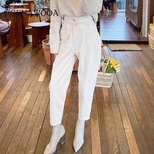 Genayooa Spring High Waisted Boyfriend Jeans For Women Streetwear Casual Boot Pants Women Loose Slim Female Jeans 2020 Korean
