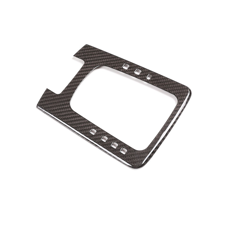 Real Carbon Fiber Car Styling Inner Central Console Gear Shift Button Frame Trim Sticker For Porsche 718 911 2012-19 Accessories enlarge
