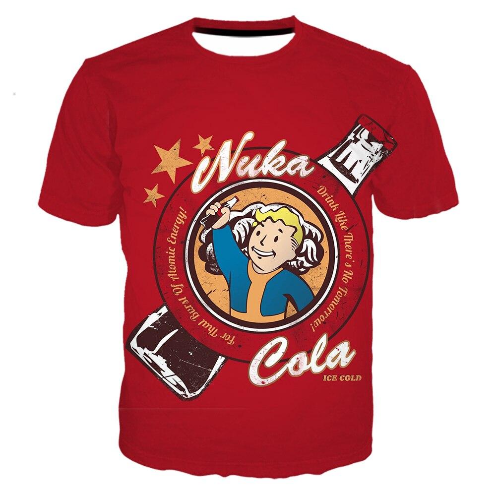 Camiseta fallout para hombre con estampado 3d/Sudadera con capucha/pantalones harajuku casual shorts streetwear hip hop manga corta divertida camiseta vault