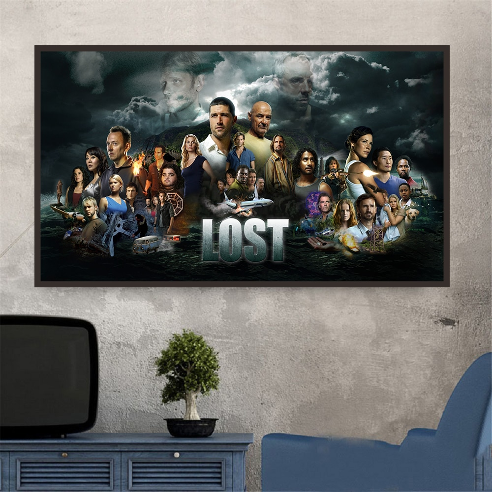 Serie de TV perdido mostrar cartel todo pasa por una persona HD Lona de pintura para viviendo en casa de la pared, pared arte Decoración