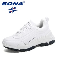 bona 2021 new designers casual sneakers women thick sole ladies platform walking footwear height increasing shoes feminimo comfy