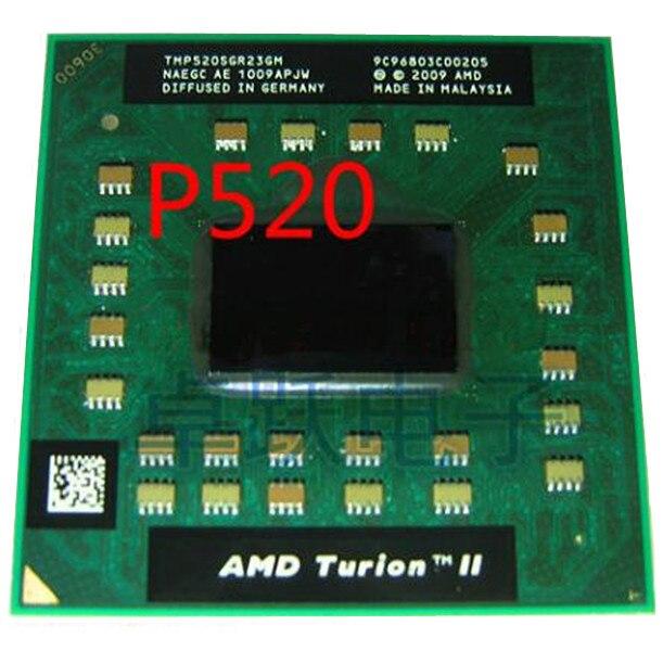 Móvil original AMD Turion II, Dual Core, p520-tmp520sgr23gm, procesador de CPU de notebook, envío gratis