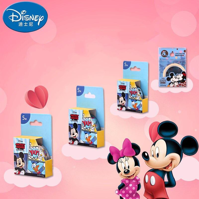 Cinta de papelería de dibujos animados de Mickey de 5 metros DIY cinta de papel de enmascarar cinta de papelería niño niña Oficina suministros de escuela washi
