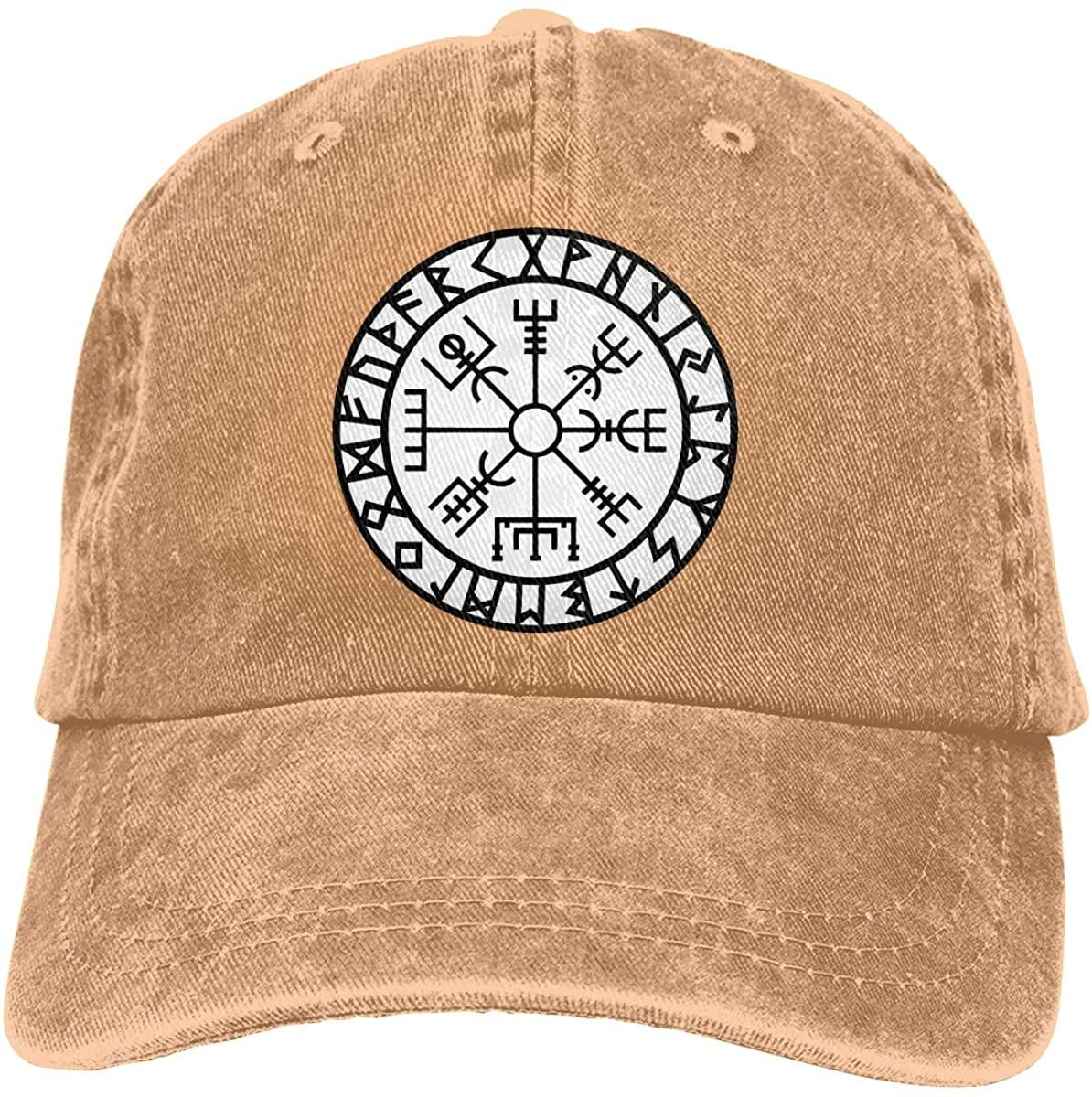 Вегвизир-футark-руны-навигатор-викинги Унисекс Взрослые бейсболки ковбойские шапки джинсовые шапки шапка для папы